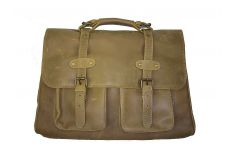 Grand sac cartable 48h cuir camel Saint Exupéry