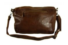 Sac fourre-tout vintage cuir marron Lexington