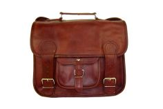 Cartable cuir marron Le M