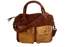 Sac 24h vintage chic cuir naturel & or Dandy