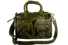 Sac tendance cuir vert olive The Little Bag
