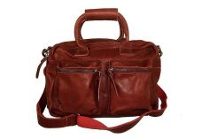 Petit sac main cuir rouge The Little Bag