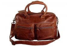 Grand sac de ville 24h cuir marron The Bag
