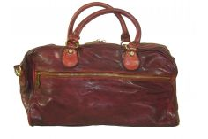 Sac week-end vintage rouge Bordeaux Fabio