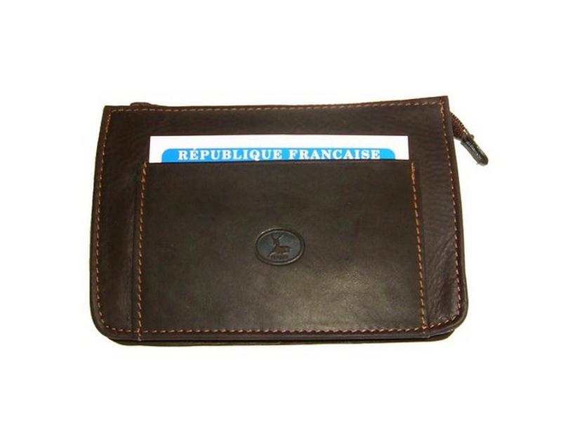 b9284007ff9 Pochette ceinture homme cuir brun made in France 5583B
