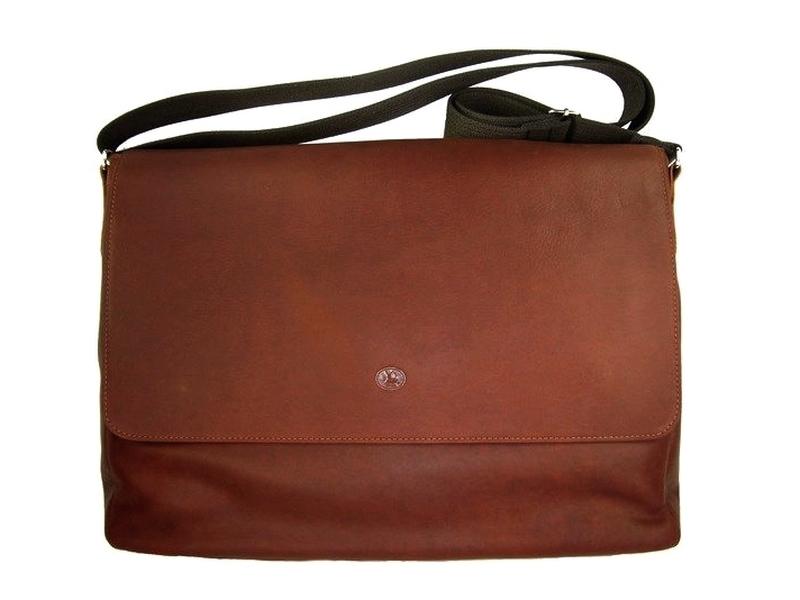 e7974f3cd5 Grand sac besace cuir homme à bandoulière marron Frandi - Espritcuir