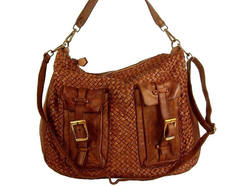 943132bc47 Besace femme cuir tressé vintage naturel Paula/Collection Esprit Cuir