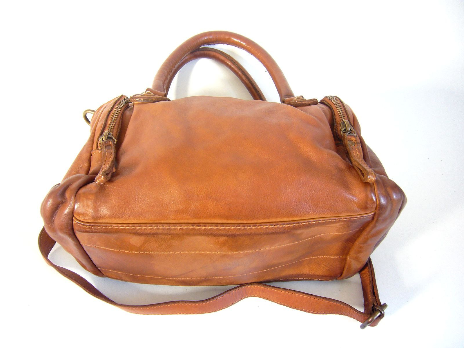Petit sac porté main vintage naturel Biba