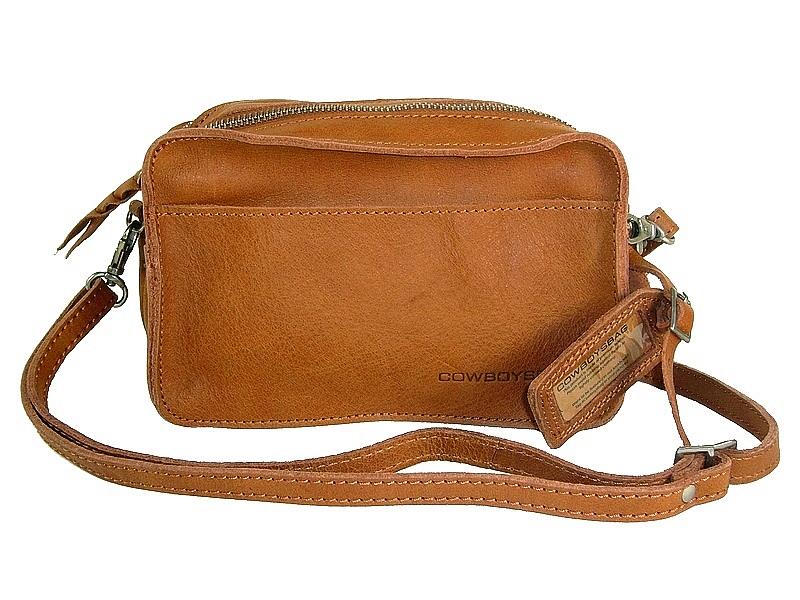 510cb4ea56 Pochette femme bandoulière cuir tobacco Folkestone/Cowboysbag