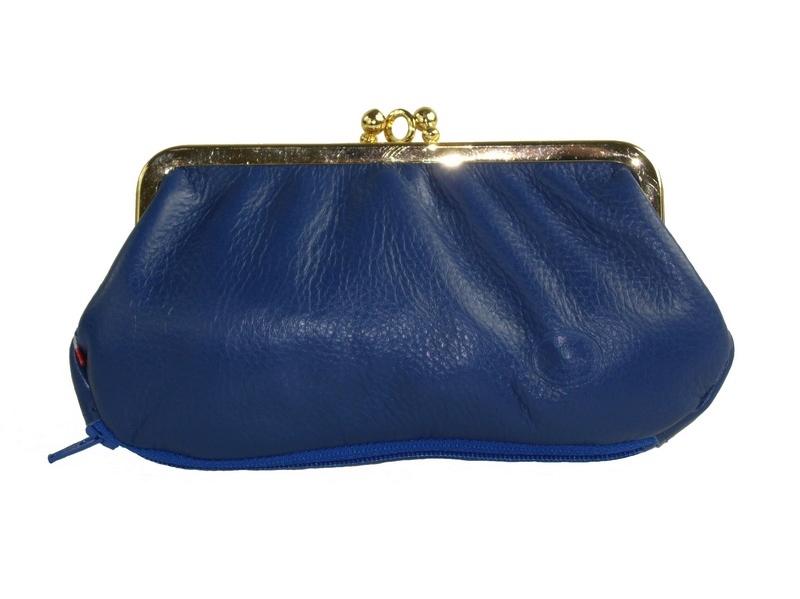 Portemonnaie Cuir Bleu Femme Style VintageFrandi Espritcuir - Porte monnaie cuir femme