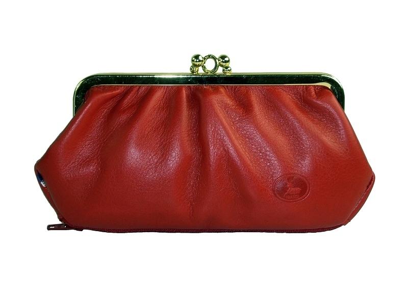 Portemonnaie Cuir Femme Style Vintage Bordeaux Frandi - Porte monnaie cuir femme