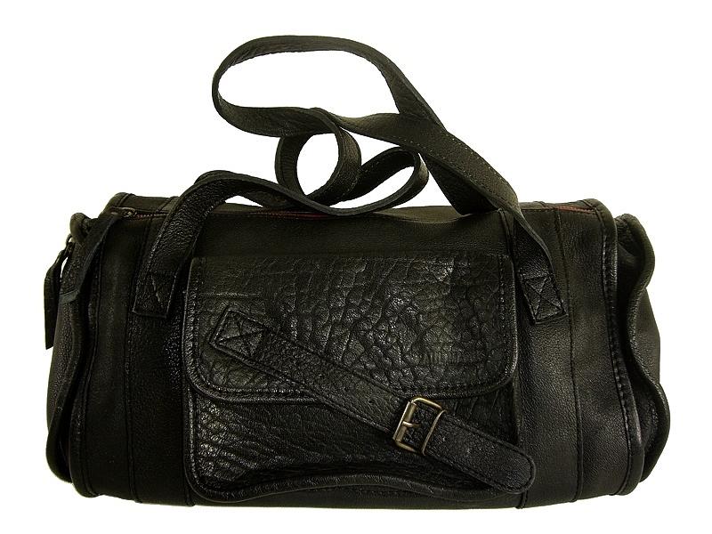 design de qualité 68175 c5a29 Sac epaule vintage cuir bubble noir Marie