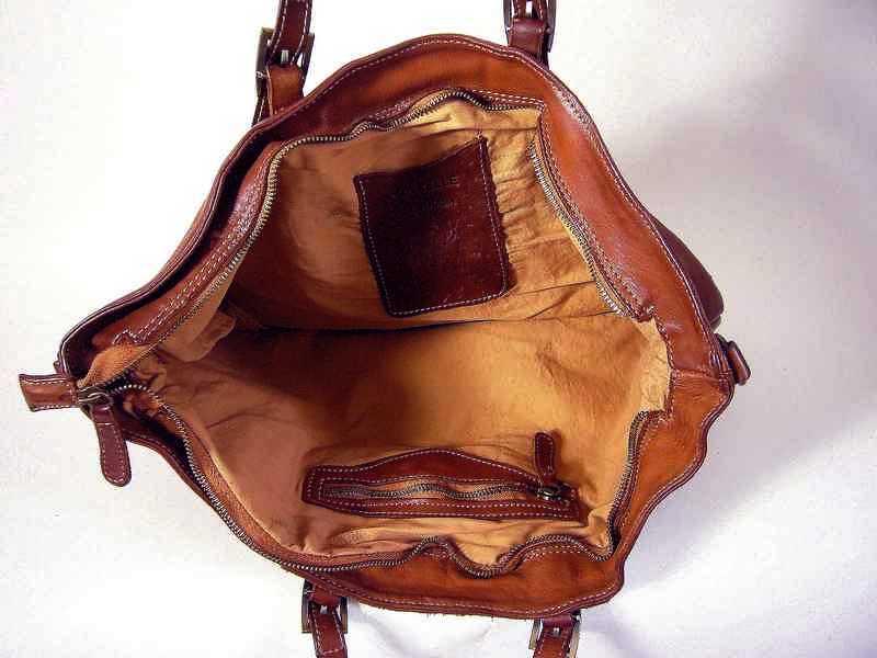 design de qualité 87035 3712e Cabas cuir souple vintage naturel Nadia