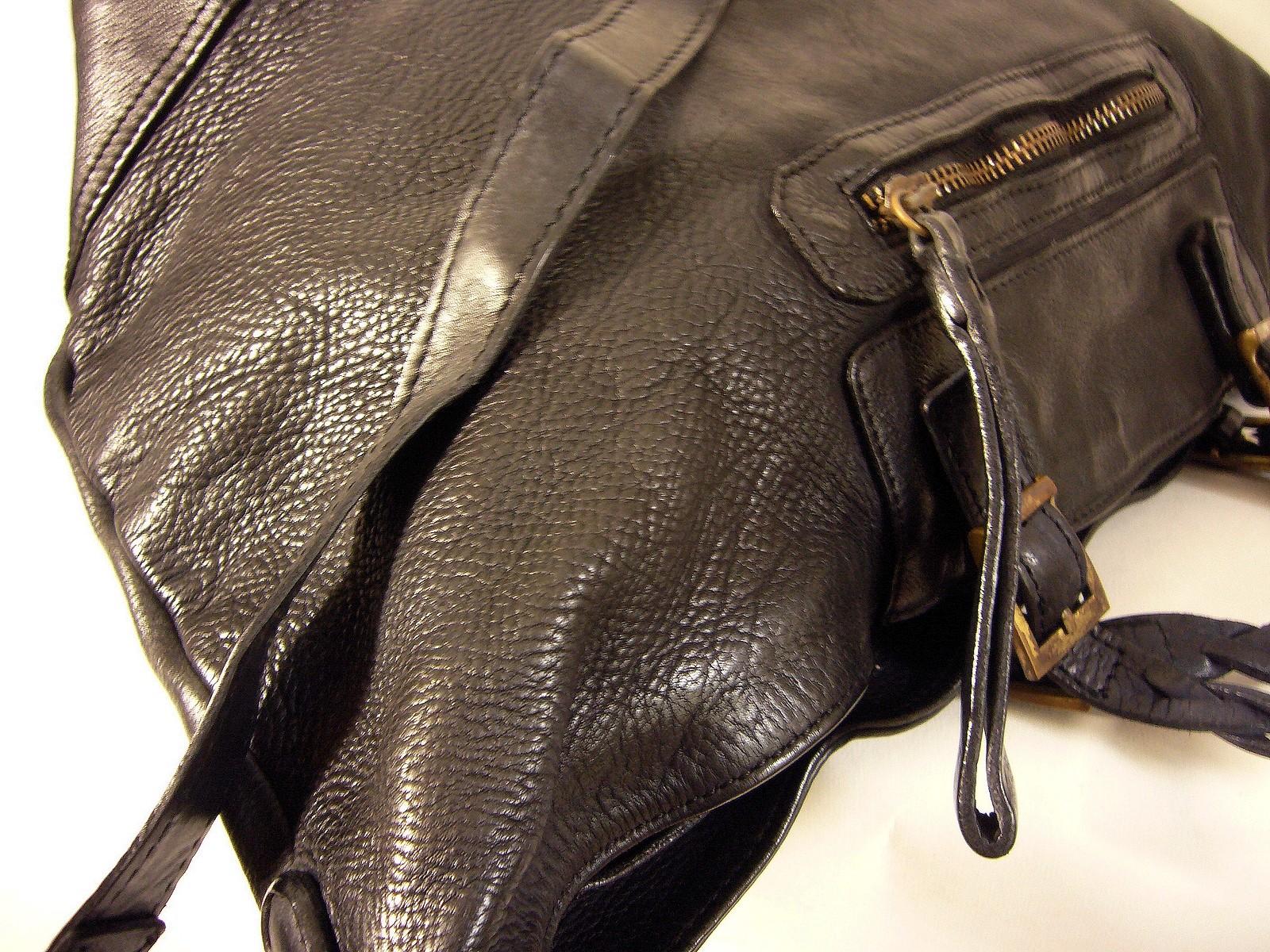 nouveau style a392d 65f9f Sac cabas cuir italien vintage noir Nadia