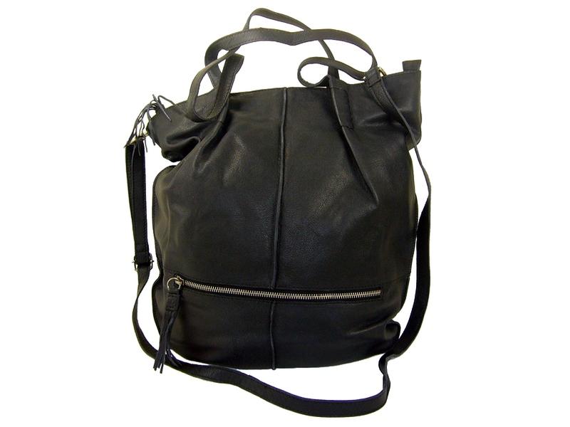 6a0d11ed9c Sac shopping cuir noir femme Dolcha, marque DIXIE - Espritcuir