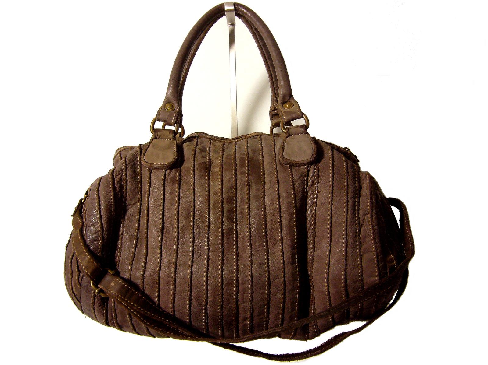 détails pour style attrayant construction rationnelle Sac épaule cuir vintage taupe Paolo
