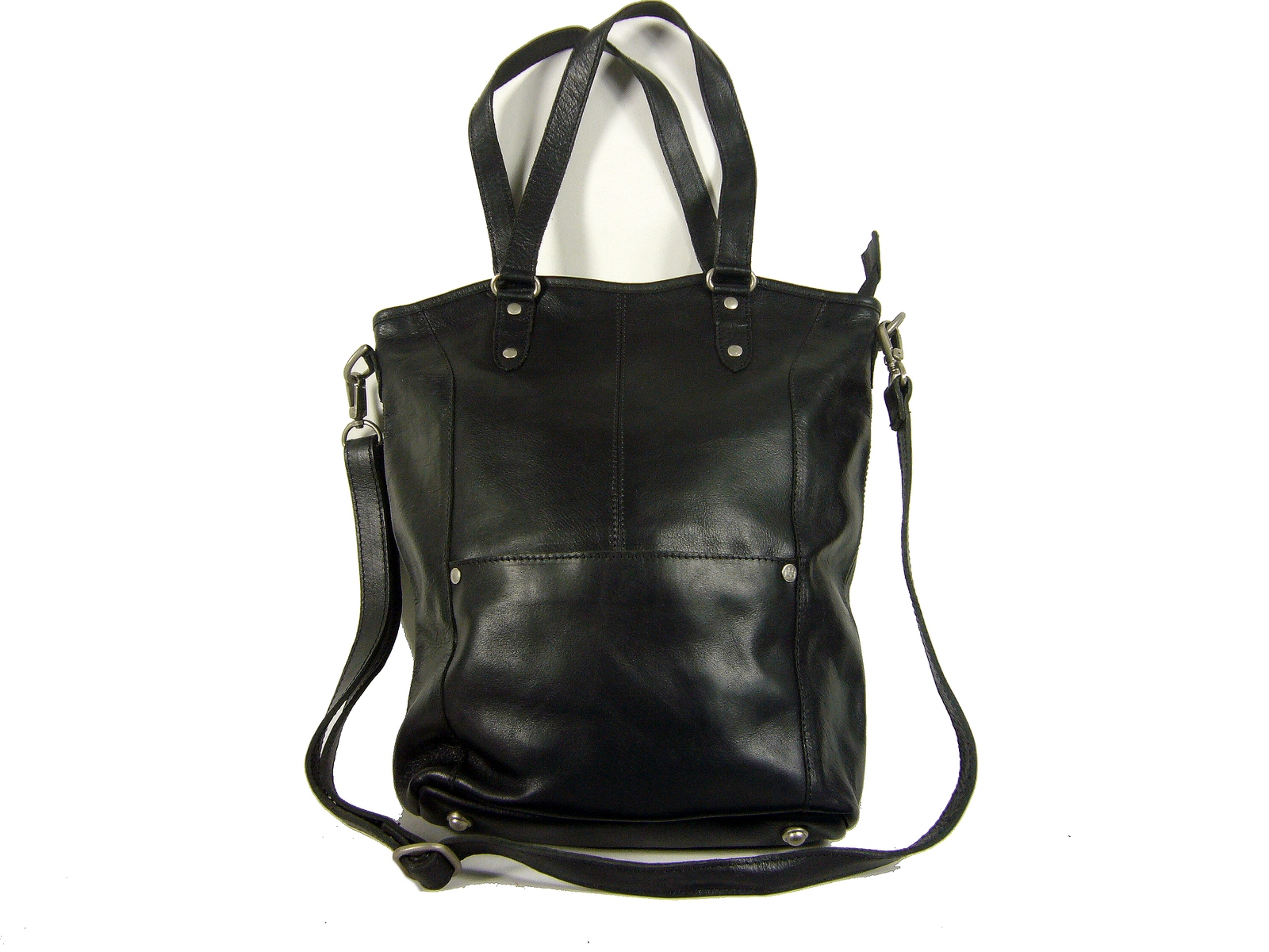 65d387f587 Sac shopping femme cuir noir Paros / Cowboysbag - Espritcuir