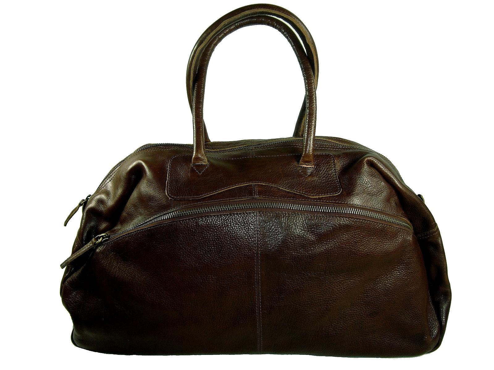 vintage Sac cuir brun de Chicago voyage ggqEzwT