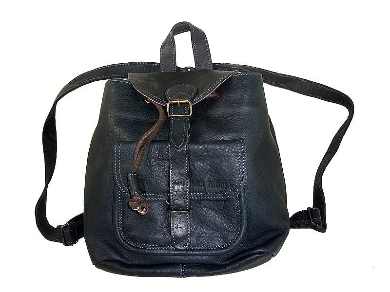 9ccac647f5 Petit sac à dos femme cuir bleu Le Baroudeur/PMarius - EspritCuir