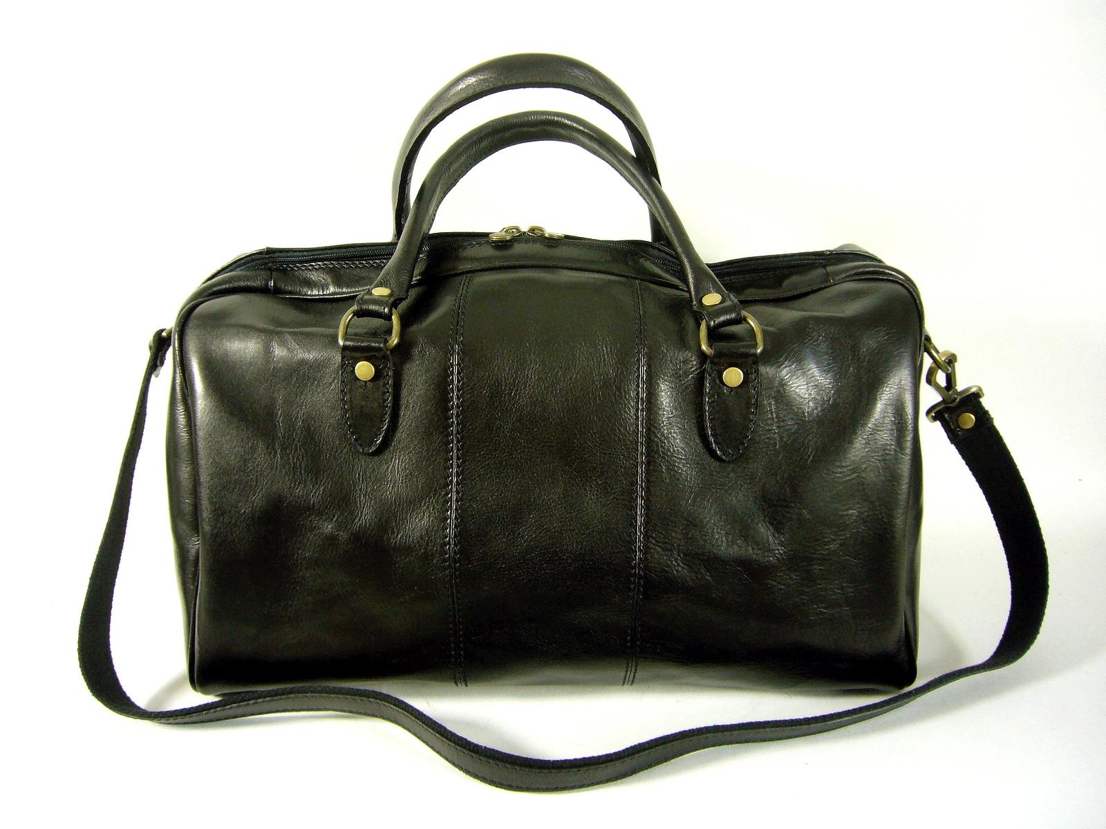 bdd88049ee Sac de voyage cuir noir made in Italie Vienna / DIVA - Espritcuir.com