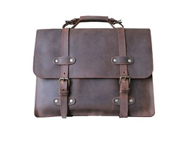 cartable cuir vintage made in france