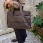 Le sac à main en cuir style Z & J.