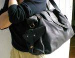 sac cuir noir pour femme, tendance de mode