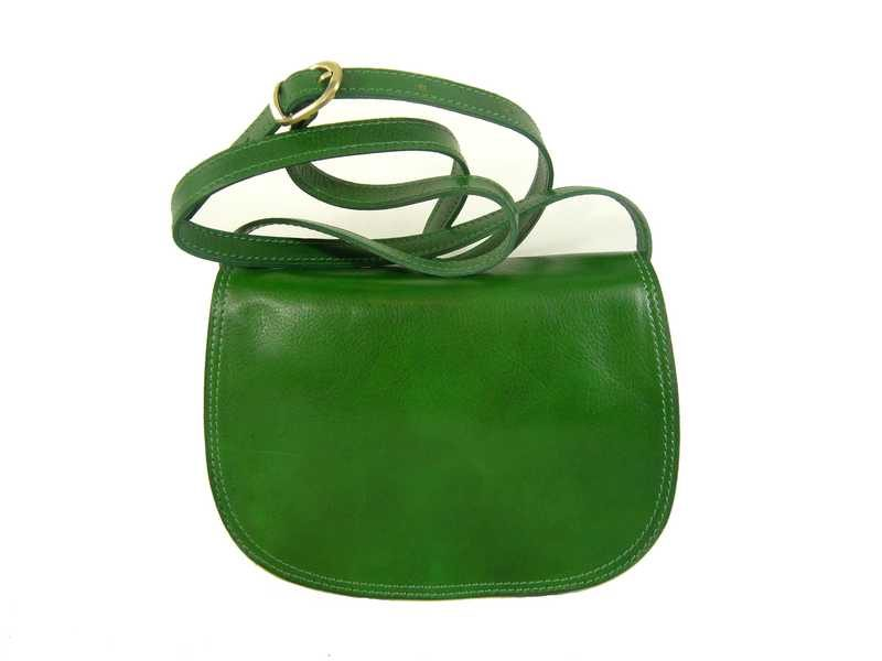 Petite besace femme vert